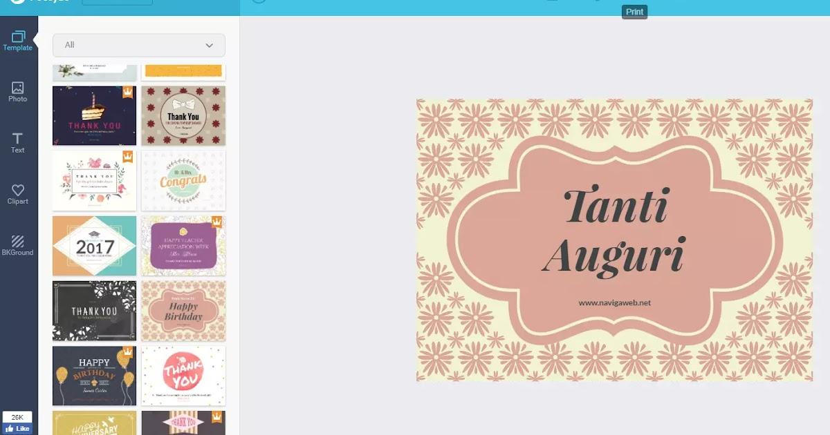 Creare biglietti di auguri personalizzati da inviare o da for Siti di oggetti in regalo