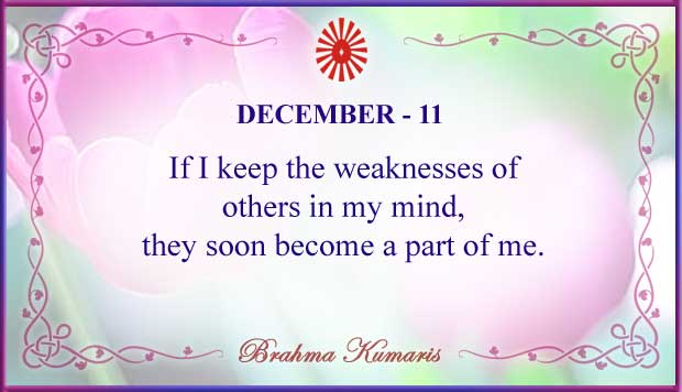 Thought For The Day December 11
