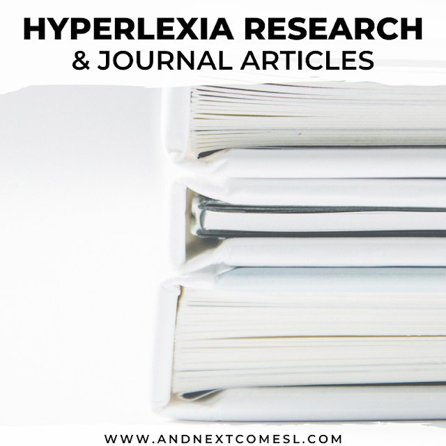 Hyperlexia autism research articles