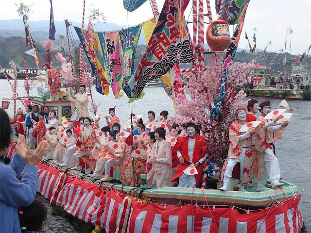 Ose Matsuri (Fishermen's Festival) at Uchiura fishing port, Numazu City, Shizuoka Pref.