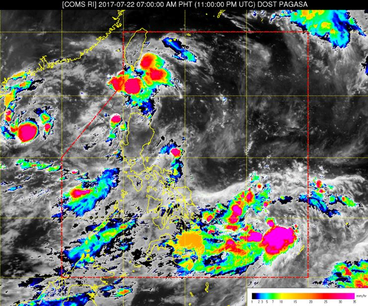'Bagyong Fabian' PAGASA weather update July 22, 2017