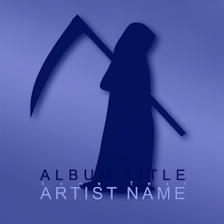 Music cover artwork design showing spooky angel of death silhouette with 3D graphic effects. Suitable for use in CD case/booklet, vinyl, mp3 downloads, Spotify, iTunes/Apple Music, CD Baby and all digital music services