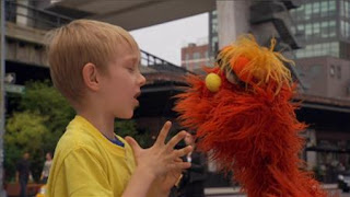 Murray What's the Word on the Street Disappointed. Sesame Street Episode 4417 Grandparents Celebration season 44