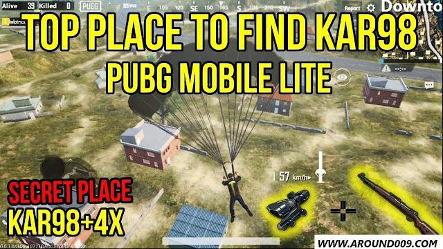 أفضل 3 أماكن لإيجاد سلاح الـKar98k في لعبة ببجي والسكوبات لسلاح الكار