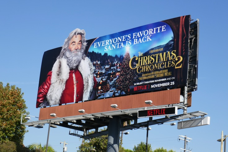 Kurt Russell Christmas Chronicles 2 cut-out billboard