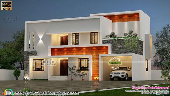 Beautiful contemporary box model house