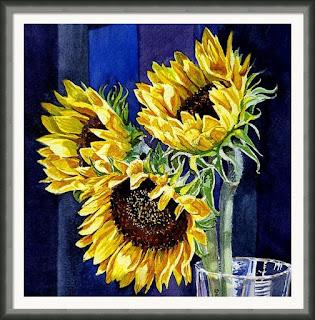 Bestselling Sunflower Painting by the artist Irina Sztukowski