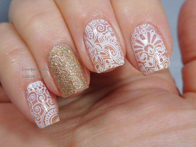 Winstonia Love of Henna plate paired with Zoya Levi