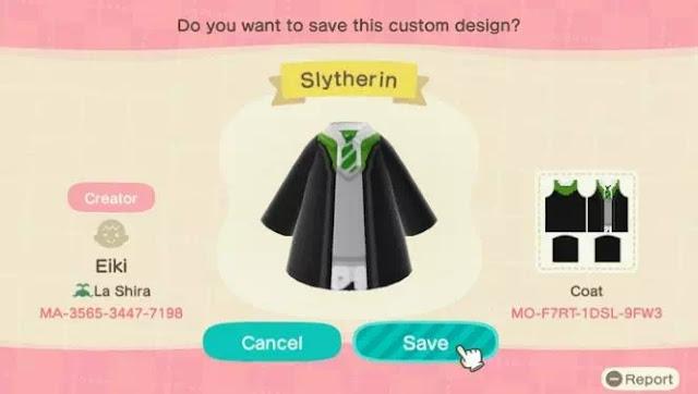 Kode Pakaian Harry Potter Animal Crossing New Horizons-3