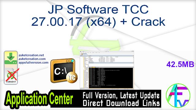 JP Software TCC 27.00.17 (x64) + Crack