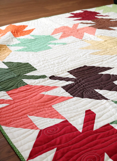Modern Maples quilt in Riley Blake solids