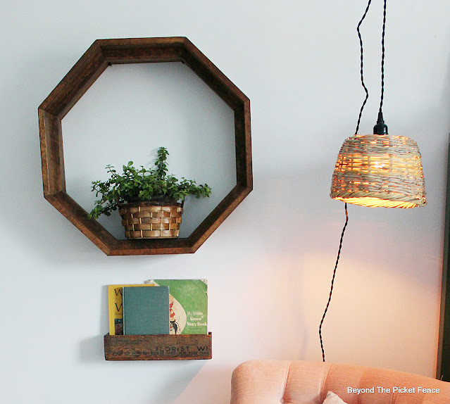 Make a Hanging Light with a Thrift Store Basket