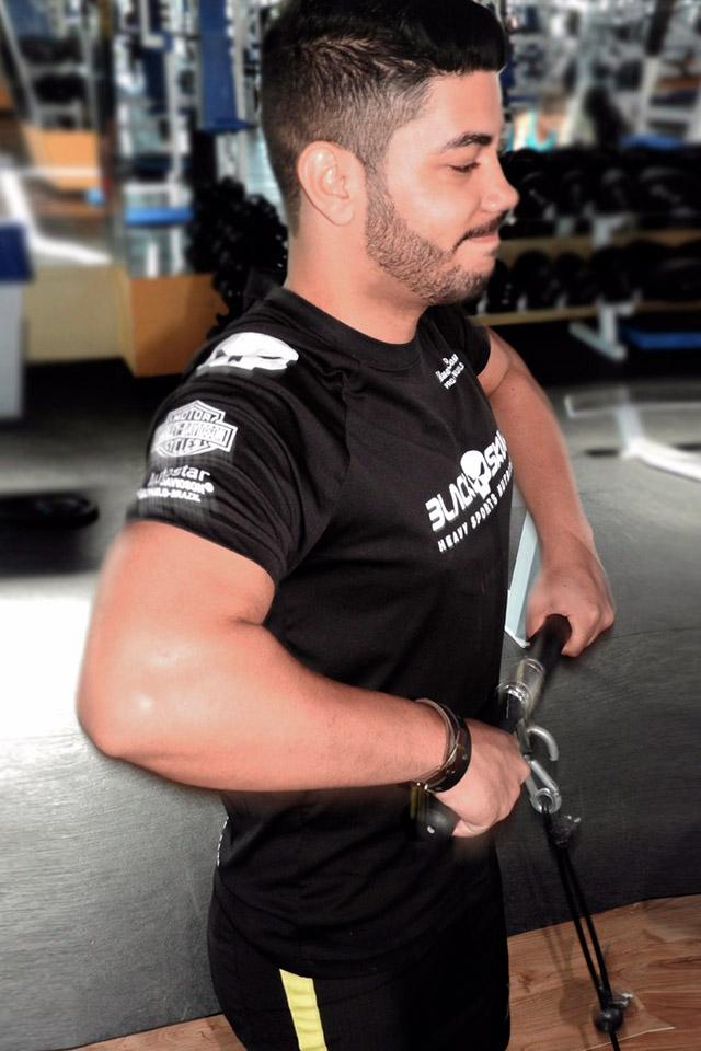 Fotógrafo William Netto começou a praticar musculação há dois meses. Foto: Arquivo pessoal