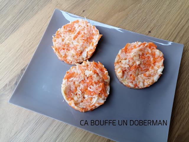 Galettes de légumes chou-fleur et carottes ça bouffe un doberman à congeler