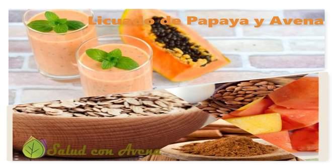 la papaya con avena sirve para bajar de peso