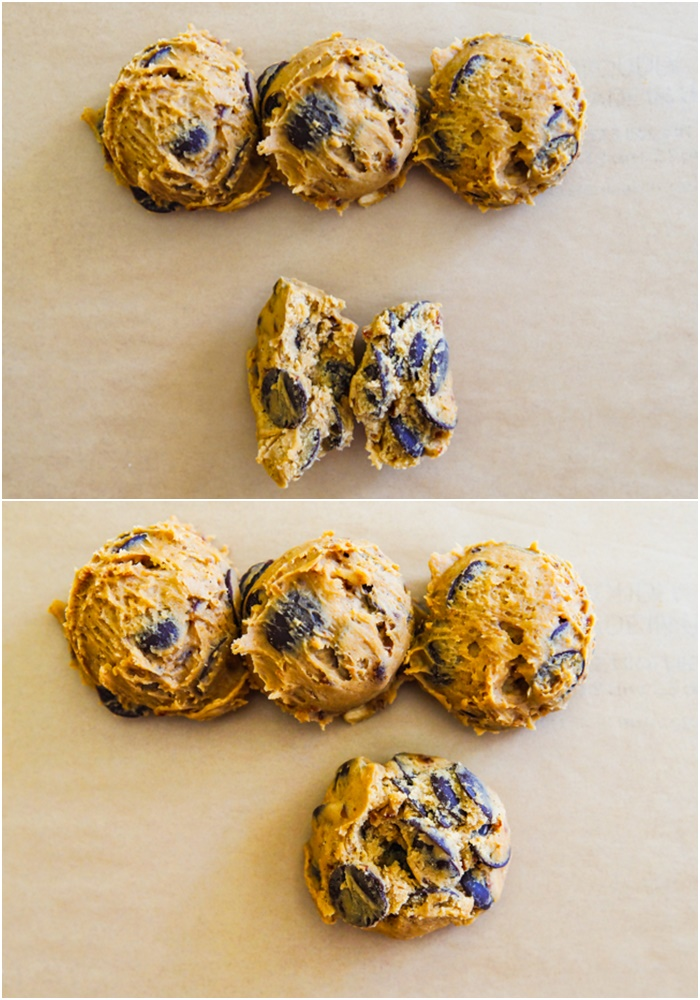 how to make pretty Coconut Sugar Chocolate Chip Cookies