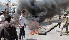 تواصل الإحتجاجات على تردي الوضع المعيشي في العاصمة المؤقتة عدن
