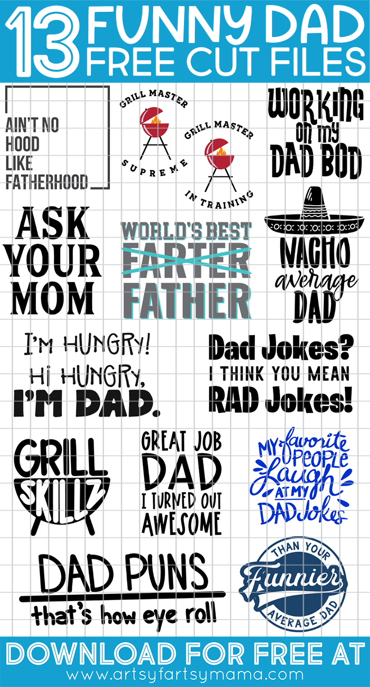 13 FREE Funny Dad Cut Files #totallyfreesvg