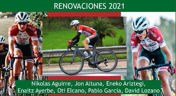 El Telco,m On Clima Osés renueva a siete ciclistas