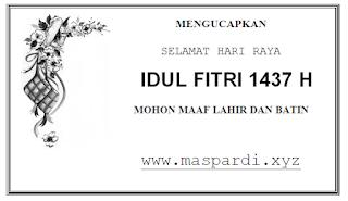 Kartu Ucapan Idul Fitri Sederhana Terbaru