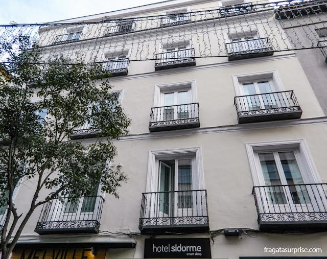 achada do Hotel Sidorme Fuencarral 52, no bairro de Chueca, Madri