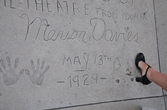 Marion Davies footprints Grauman's Chinese Theater by Lady by Choice