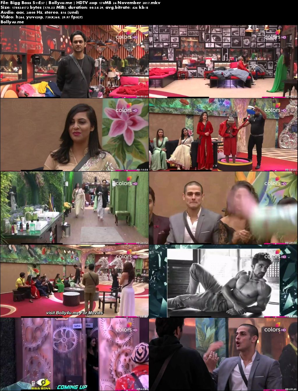 Bigg Boss S11E57 HDTV 480p 150MB 26 November 2017 Download