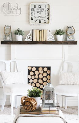 diy faux fireplace tutorial. The best diy farmhouse decor projects for you home! Farmhouse decor and decorating ideas.