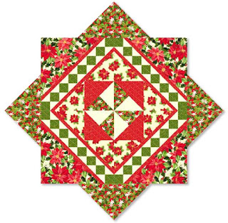 Christmas Star Tree Skirt Or Table Topper Free Pattern By Cindi Hershey For Quilting Treasures PDF Download Red And Cream Colorway