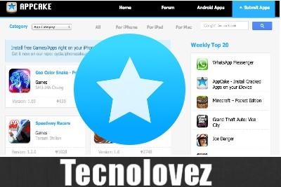 AppCake - Store alternativo per iOS dove scaricare applicazioni senza JailBreak