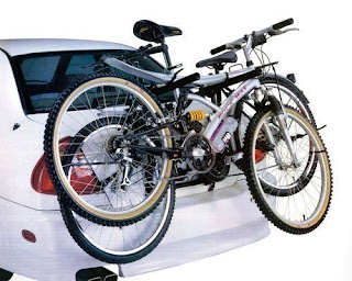 7 DAYS SPECIAL OFFER!! CAR CYCLE CARRIER 2 BICYCLE BIKE RACK  UNIVERSAL FITTING SALOON HATCHBACK ESTATE £18.49 @ ebay
