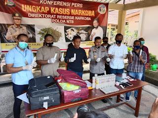 Hebat, Polda NTB Sukses Gulung 4 Sindikat Narkoba, 2 Kg Sabu Diamankan