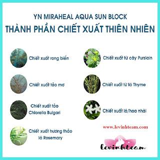 Kem Chống Nắng Dưỡng Trắng Da - YN Miraheal Aqua Sun Block