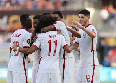 ملخص اهداف مباراة قطر وجرنادا (4-0) الكأس الذهبية