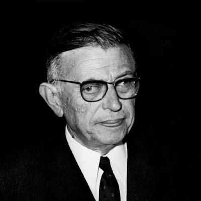Jean Paul Sartre em 1950 na França.
