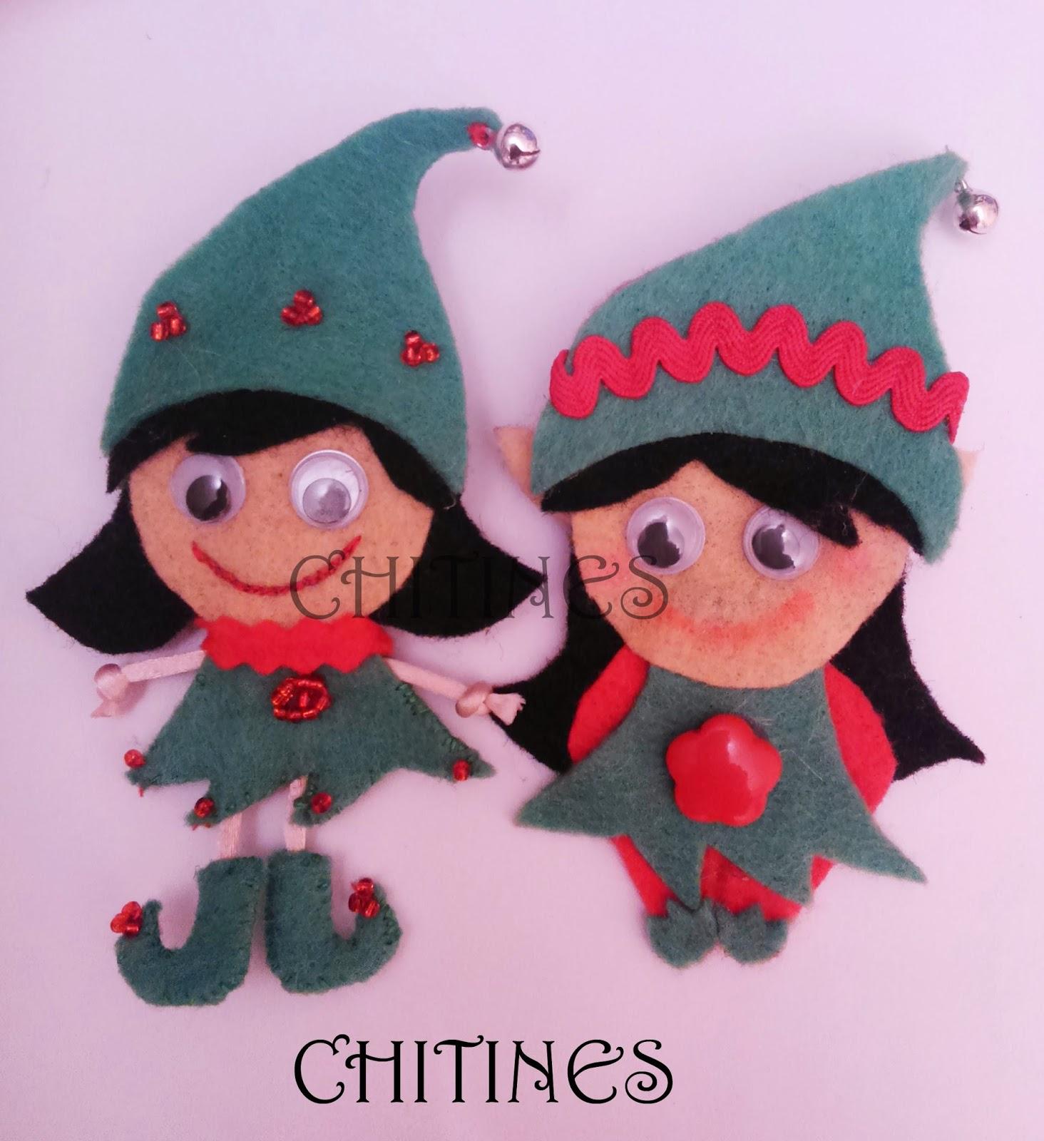 Manualidades Duendes De Navidad.Chitines Fieltro Y Otras Manualidades Duendes Navidenos