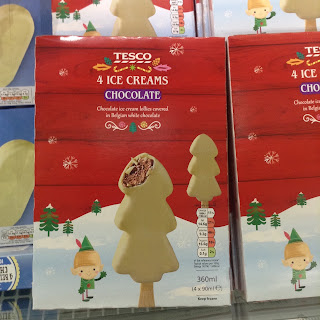 tesco christmas tree ice creams