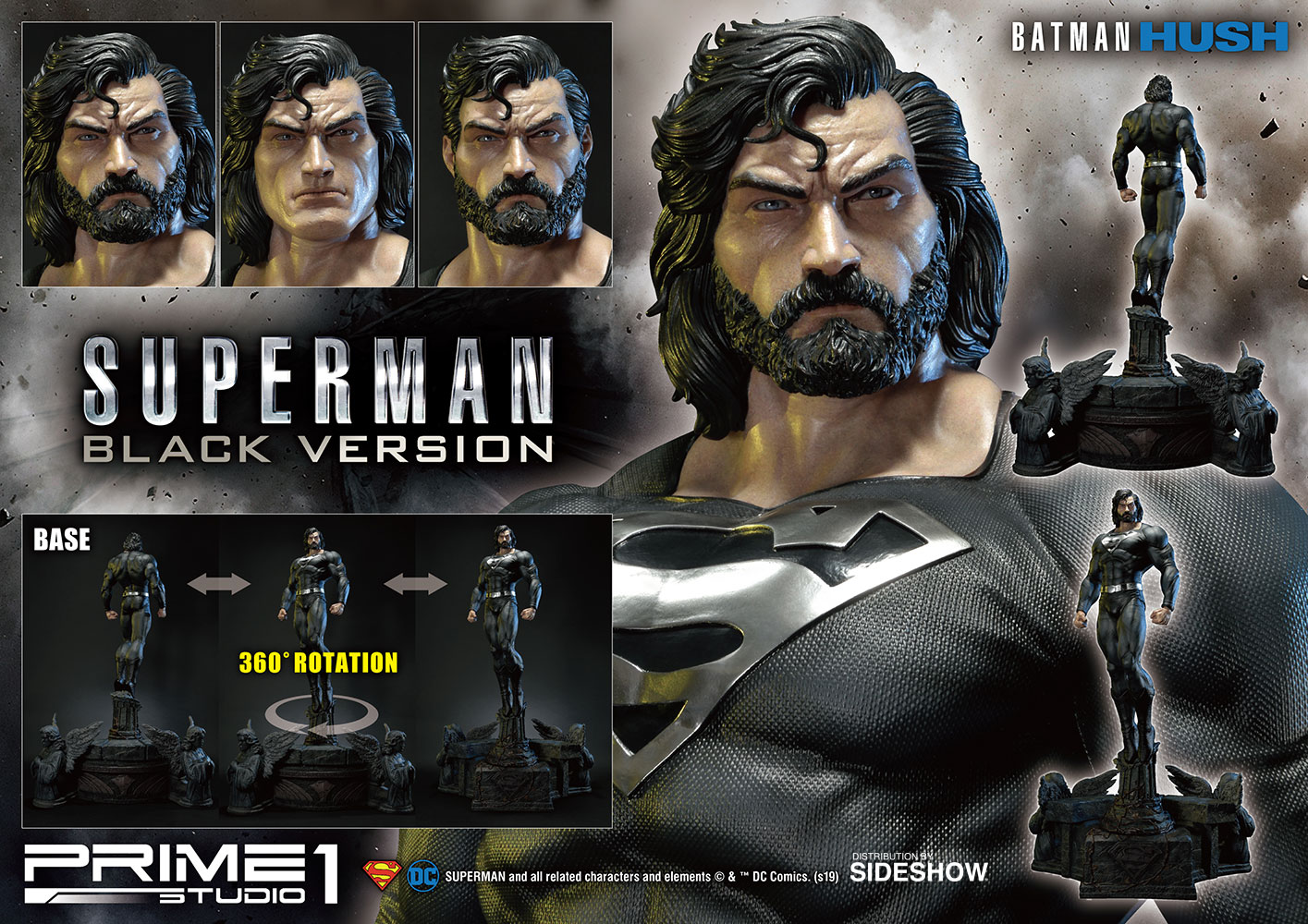 Back in black? This Superman Statue by Prime 1 Studio says yes!