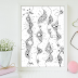 Abstract Floral Printable Art Illustration