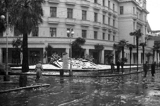 Ч/б фотографии Сухуми 60ых годов ХХ века