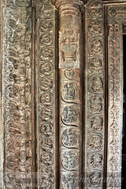five sections of the door-frame of the grabhagriha