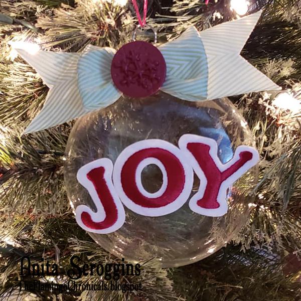 JOY Christmas ornament