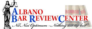 Albano bar review center logo