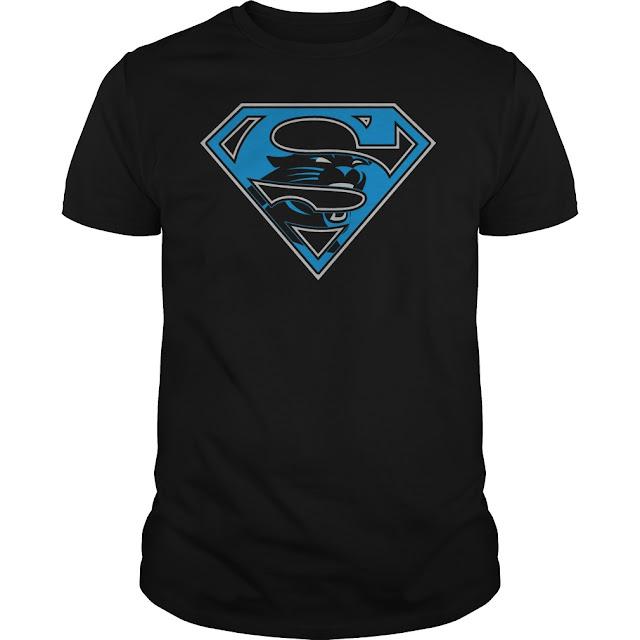 Carolina Panthers Superman Logo Shirt