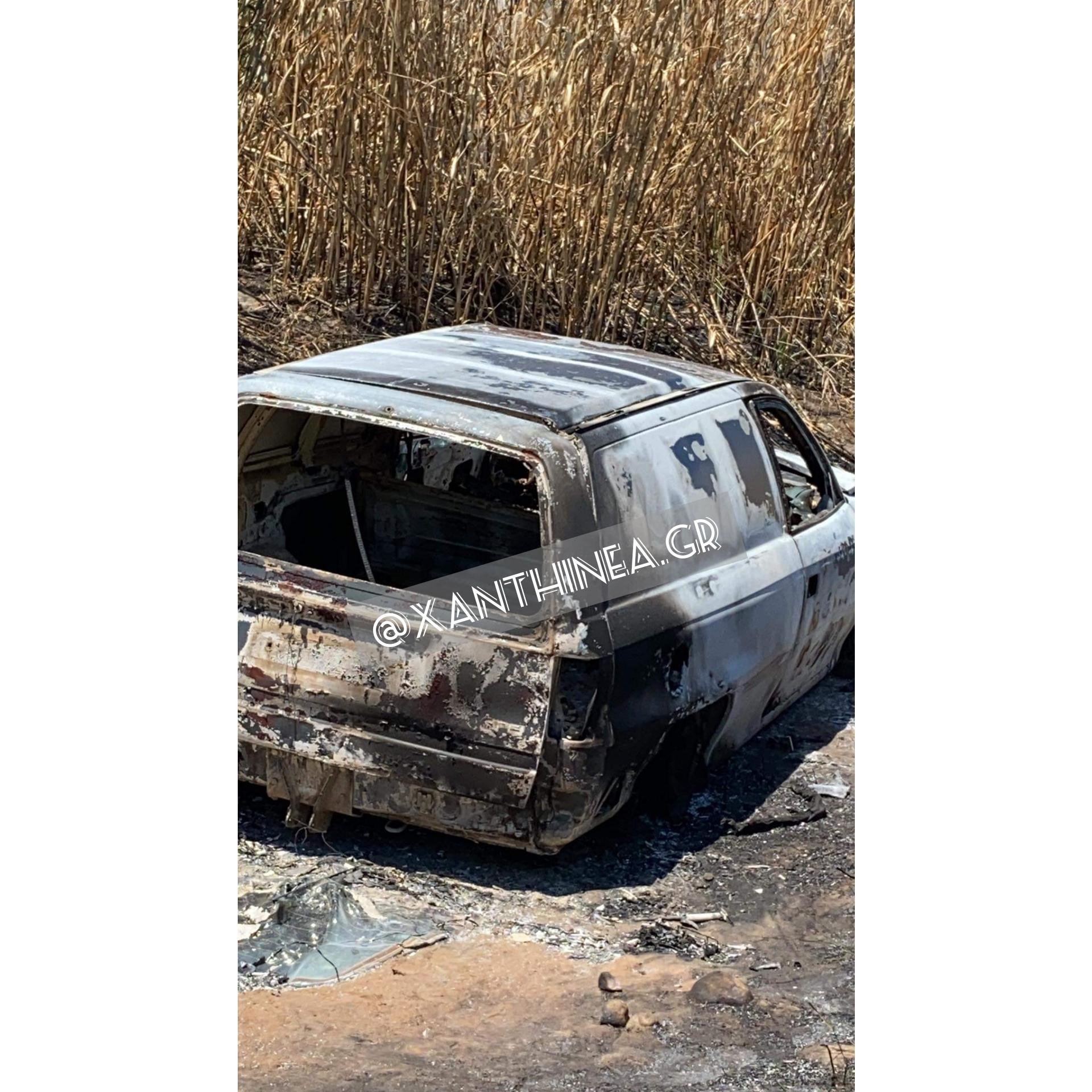 Ξάνθη: Έκλεψαν αμάξι από τη Διομήδεια και το βρήκαν καμένο