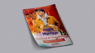 Marriage Card Design Template Vector Ai Free Download