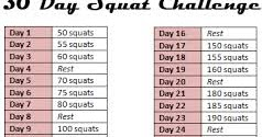 The Chic Life: 5 Ways to Boost Your 30 Day Squat Challenge