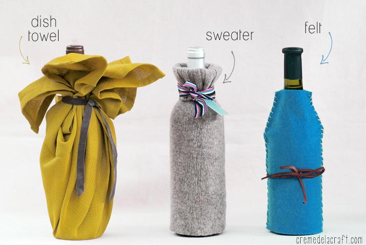 Diy Wine Bottle Wrap 3 Ways