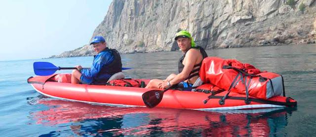 На надувных байдарках по Черному морю