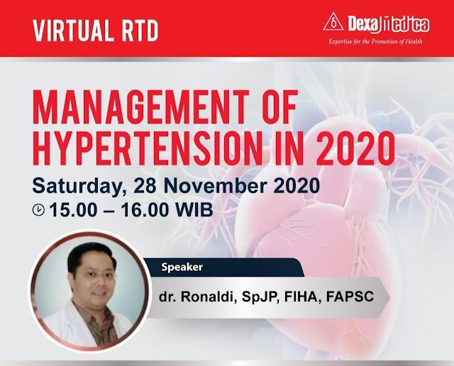 *Virtual Round Table Discussion* dengan tema Management of Hypertension in 2020